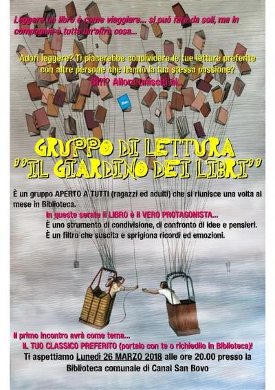 """GRUPPO DI LETTURA """"IL GIARDINO DEI LIBRI"""""""