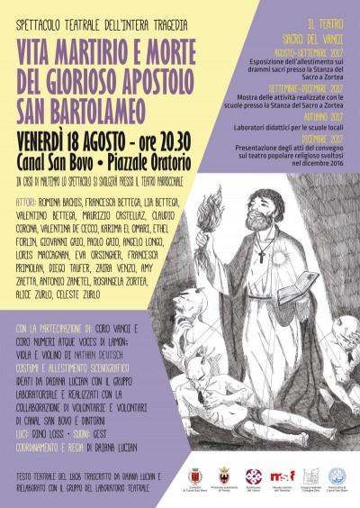 """""""Vita Martirio e morte del Glorioso Apostolo St. Bartolomeo"""""""